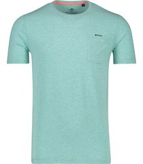 nza t-shirt pahiatua lichtblauw gemeleerd