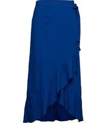 karolyna knälång kjol blå stig p
