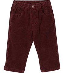il gufo burgundy trousers