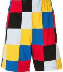 supreme patchwork pique shorts - red