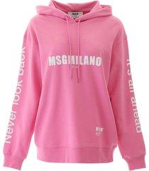 msgm multilogo hoodie