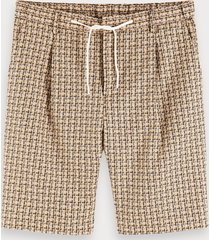 scotch & soda gestructureerde yarn-dyed short