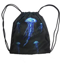 mochila saco cordinha alkary água viva preta