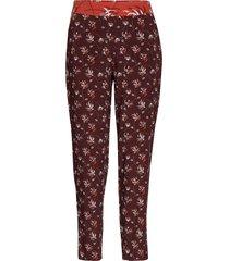 crop leisure trouser pantalon met rechte pijpen bruin taifun