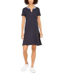 tommy hilfiger dot-print chain dress