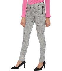 pantalón bunnys blanco/  negro - calce ajustado