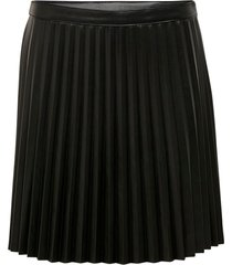 kjol jdytwix pleat faux leather skirt