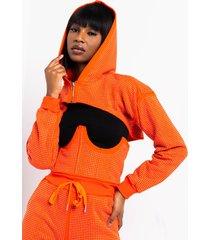 akira as if rhinestone cropped hoodie
