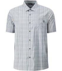 hi-tec men's kettles stretch large plaid men's short sleeve shirt