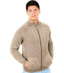 jaqueta officina do tricô grécia marrom - kanui