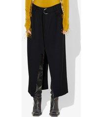 proenza schouler belted split skirt black 4