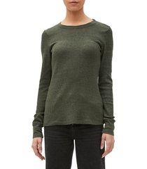 women's michael stars juliet long sleeve thermal tee, size x-small - green
