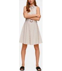 mango women's belt shirt dress