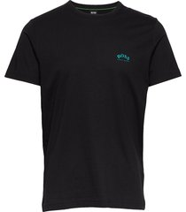 tee curved t-shirts short-sleeved svart boss