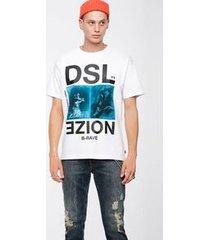 camiseta diesel t wallace xc branco