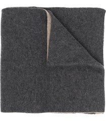 dell'oglio cashmere reversible scarf - grey