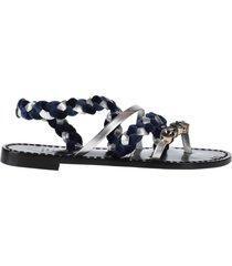 emanuela caruso capri toe strap sandals