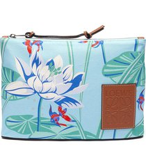 paula's ibiza' waterlily print canvas oblong pouch
