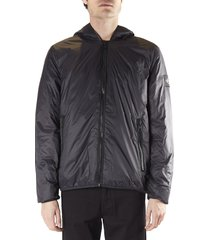 calvin klein jeans hooded jacket in technical fabric