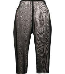 alchemy sheer knee shorts - black