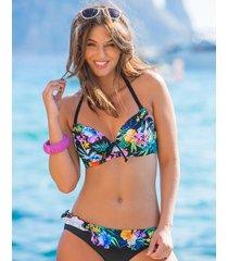 miami brights tropical adjustable underwire halter bikini top