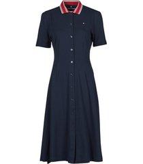korte jurk tommy hilfiger pique f f midi polo dress ss