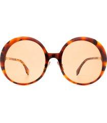 fendi fendi ff 0430/s red havana sunglasses