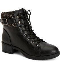 style & co gaiel lace-up cold-weather booties, created for macy's women's shoes