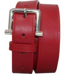 cinturón sunanna rojo femenino elaborado en cuero, 3 cm de ancho venneto-be yourself