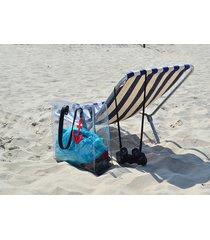 przezroczysta torba plażowa