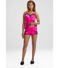 natori lolita tap shorts, women's, 100% silk, size xs