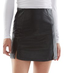 bcx juniors' faux-leather skirt