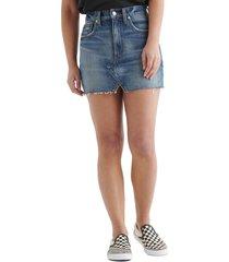 lucky brand high waist cutoff denim skirt, size 27 in mariner at nordstrom
