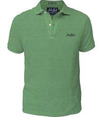 green cotton jersey polo shirt