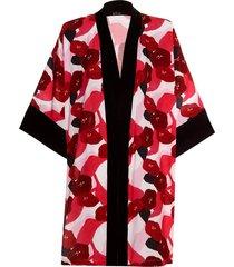 kimono by the sea curto estampado