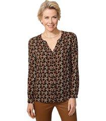 blouse mona zwart::terracotta