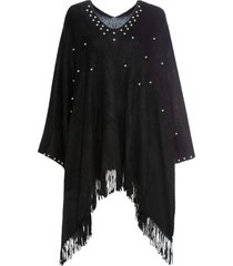 poncho con perle (nero) - bpc bonprix collection