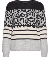 knitted pullover short 1/1 sle stickad tröja svart betty barclay