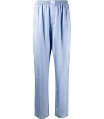 blue striped pajama pants