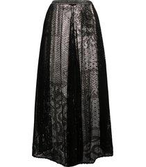 missoni wide-leg cropped crochet trousers - black