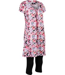 tunica lunga effetto stropicciato e leggings a pinocchietto (set 2 pezzi) (nero) - bpc bonprix collection