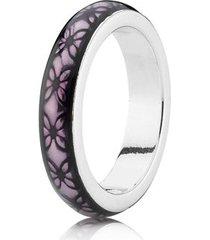 anel de prata e esmalte roxo
