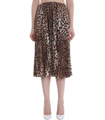 balenciaga skirt in animalier polyester