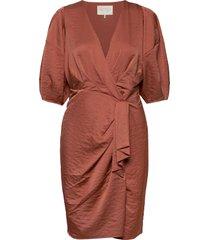 penelope recycled dress knälång klänning rosa notes du nord