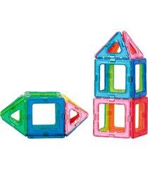 blocos de montar magnéticos formas vazadas magforma 20 peças