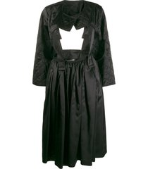 comme des garçons cut-out quilted dress - black