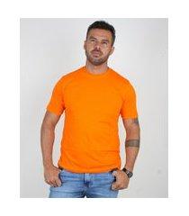 camiseta basica manga curta masculina lucas lunny lisa laranja ....