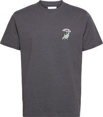 klix suntan tee t-shirts short-sleeved grå woodbird