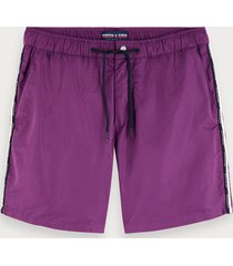 scotch & soda logo tape swim shorts