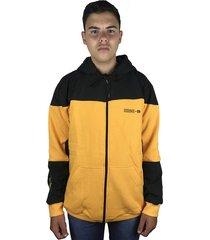 blusa moletom masculino chronic com ziper e capuz r 012 amarelo - kanui